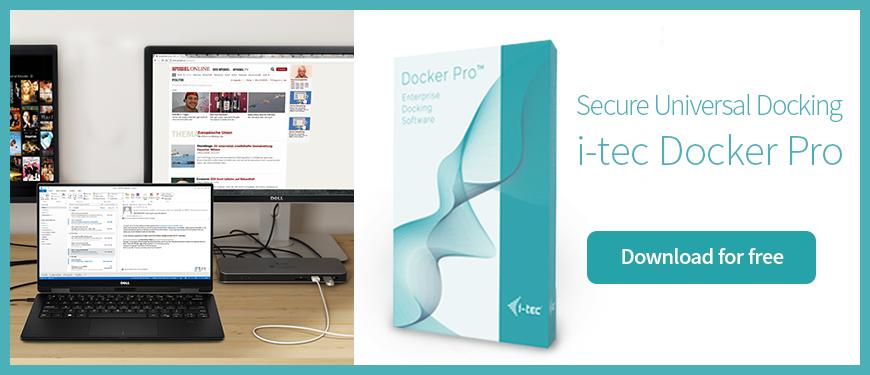 Secure Universal Docking - i-tec Docker Pro