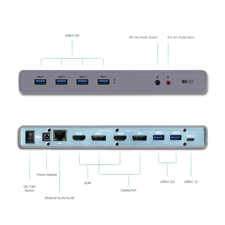 CADUAL4KDOCK | i-tec USB 3 0 / USB-C / Thunderbolt 3 Dual